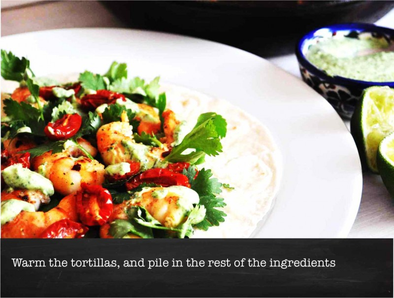 Chili & Garlic Shrimp Taco with Cilantro and Lime Dressing - ORANGE ...