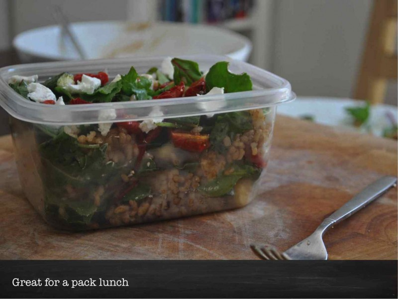 Goats Cheese, Brown Rice and Slow Roasted Tomatoe Salad - pack Lunch