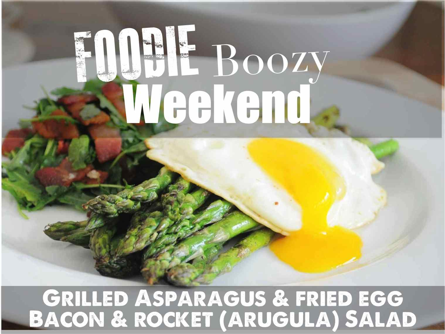 Grilled asparagus fried egg bacon rocket arugula salad printable recipe pdf forumfinder Images