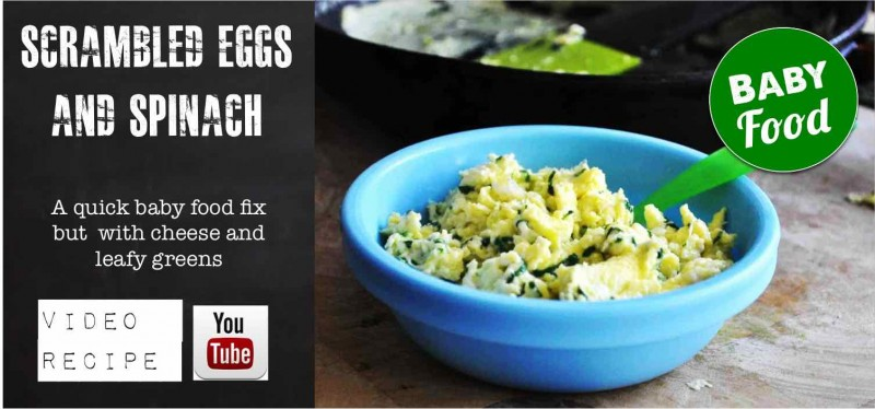 Spinach and scrambbled Eggs